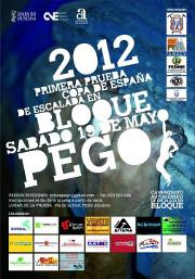 Cartell Competicio d'escalada en bloc Pego