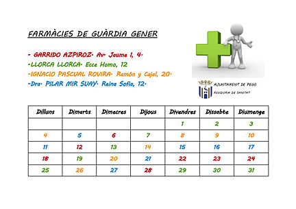 Farmacies de guardia gener 2016