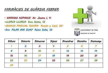 Farmacies de guardia febrer 2016
