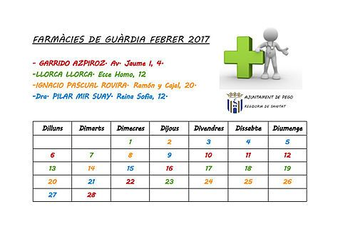 Farmacies de guardia febrer 2017