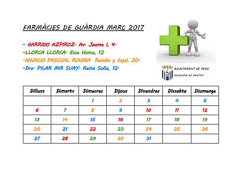 Farmacies de guardia març 2017